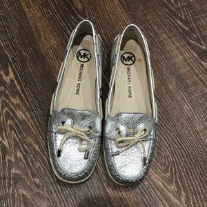 Michael Kors Metallic Boat Shoes